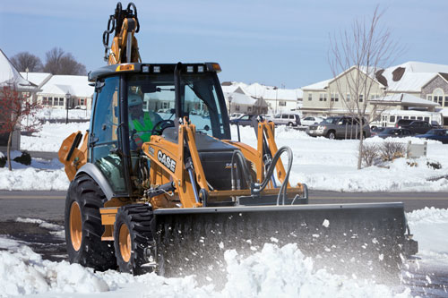 Tractor Loader Snow Plow Attachment : Equipment for snow removal tractopart