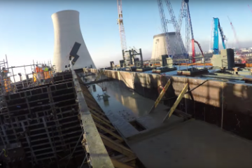 TIME LAPSE VIDEO SHOWS 15-HOUR, 2,400 CUBIC YARD CONCRETE POUR