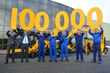 JCB CELEBRATES 100,000TH COMPACT EXCAVATOR